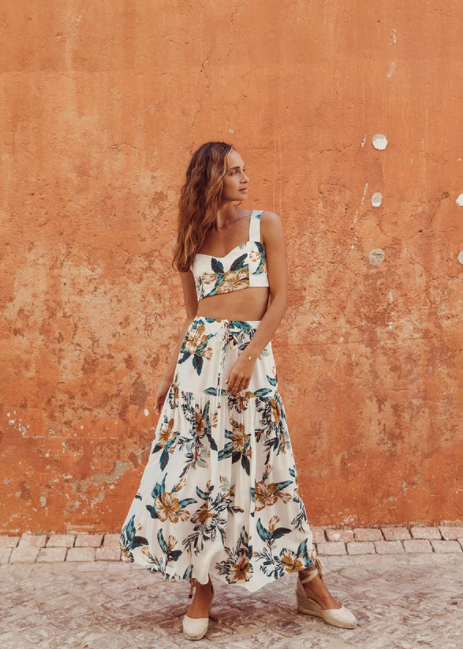 Eden Maxi Skirt - Papaya
