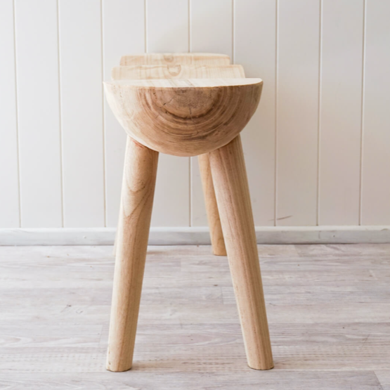 Shiloh Rustic Stool - Timber Natural Double