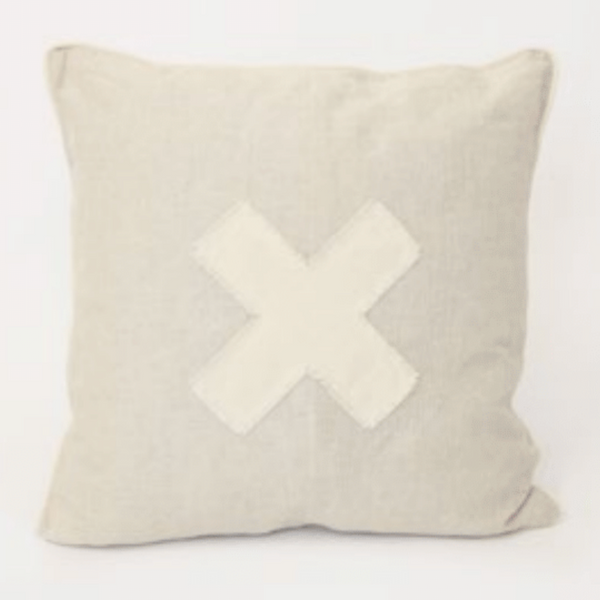 X Marks The Spot Cushion - Natural