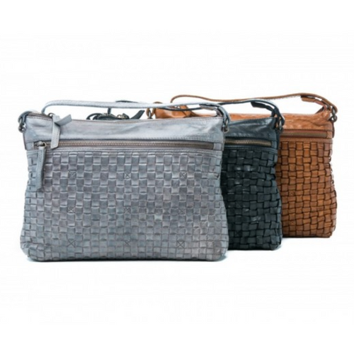 Maddison Woven Bag - Steel Grey