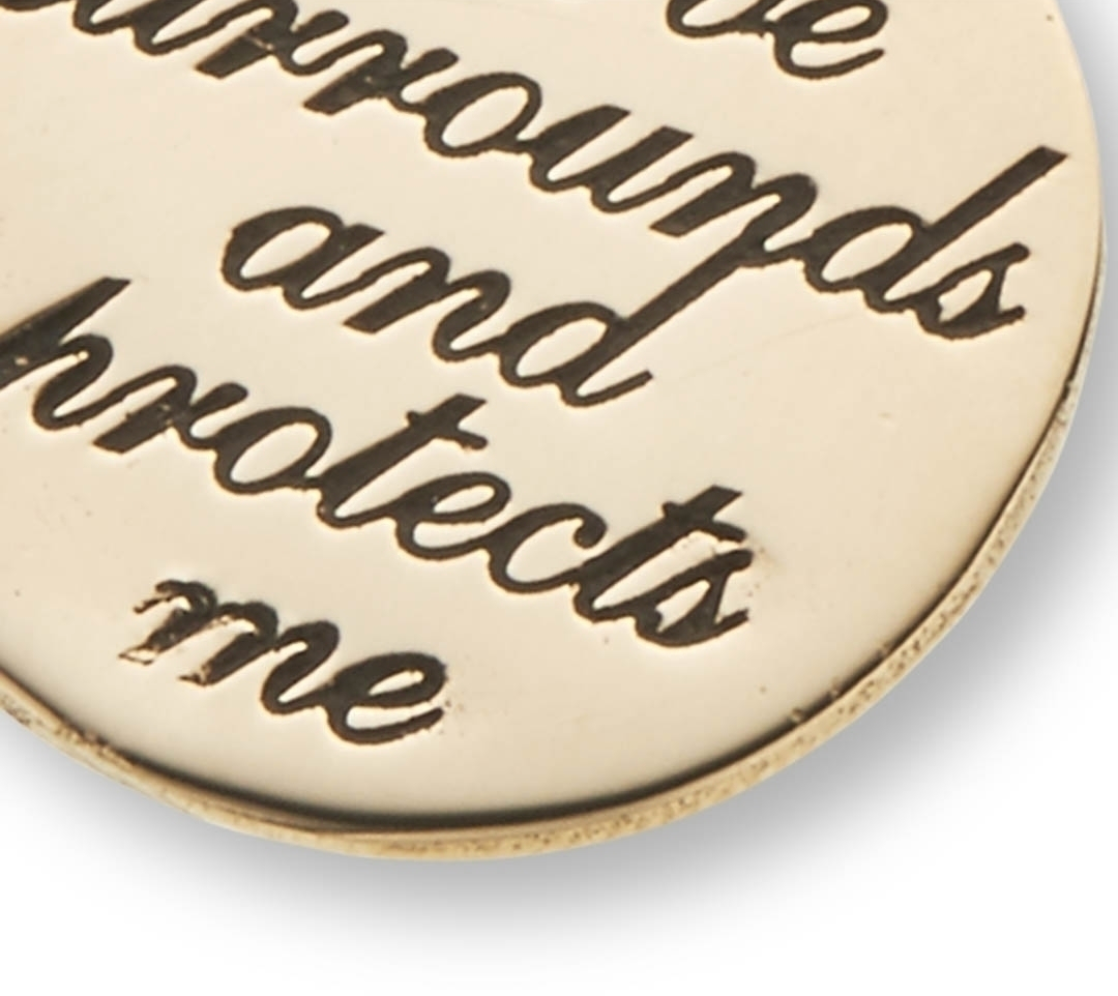 'Love Surrounds And Protects Me' Charm