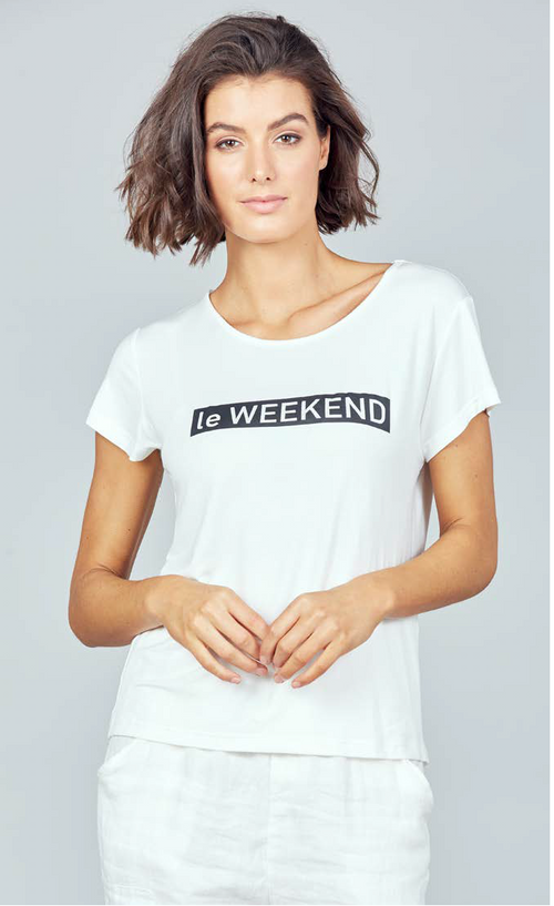 Le Weekend Tee - White
