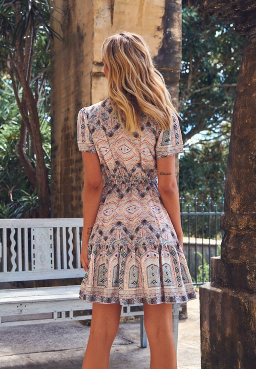 Lolana Mini Dress - Sansa Print