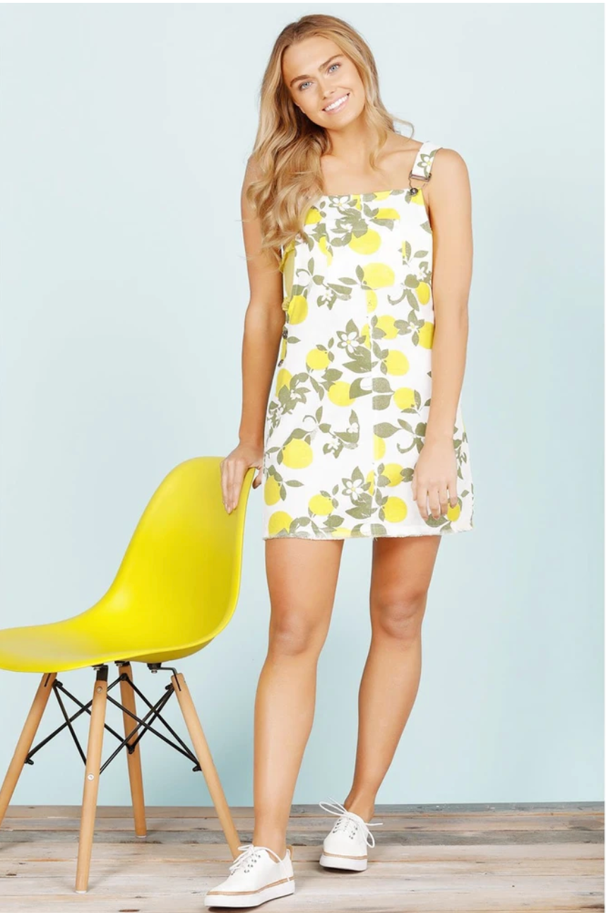 Cancun Pinafore - Lemon Drop