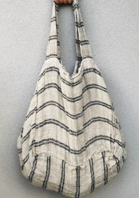 Handloomed Linen Oversized Tote Bag