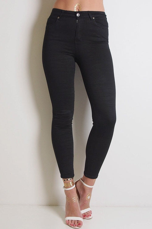 Black High Waist 7/8 Jeans - BACK In STOCK