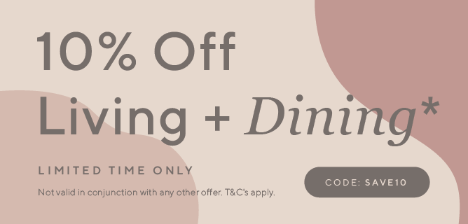 10% off Living and Dining