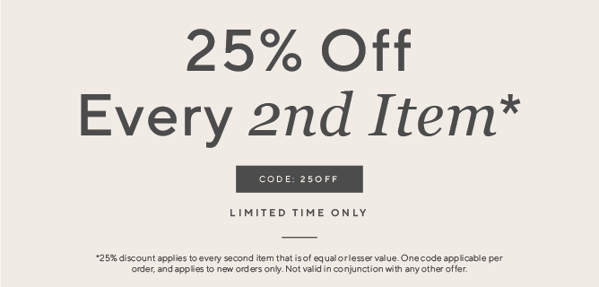 25% off on second item