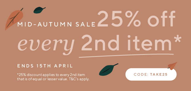 25% off on every second item