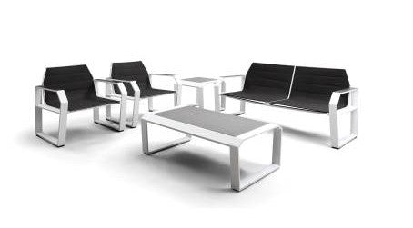 Nomad 5 Piece Outdoor Lounge Setting in White