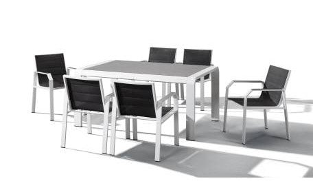 Nomad 7 Piece Outdoor Dining Setting in White