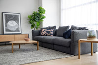 Maren 3 Seater Fabric Sofa - Dark Grey