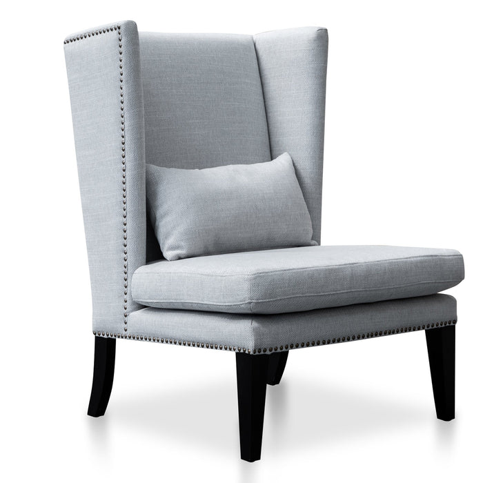 Mercer Lounge Wingback Chair in Light Texture Grey