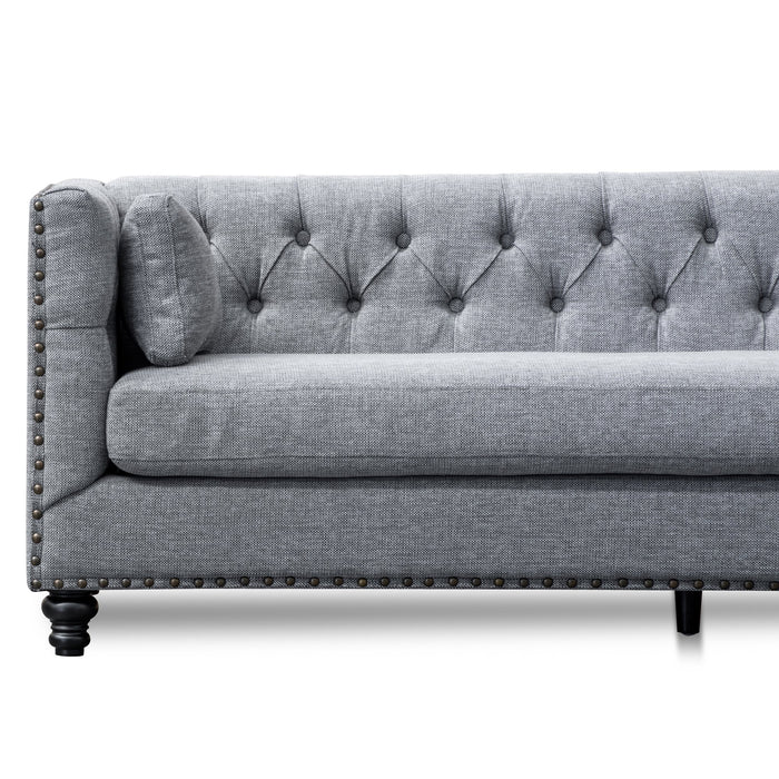 Aurea 3 Seater Sofa - Graphite Grey velvet