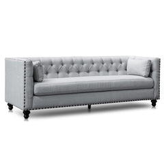 Aurea 3 Seater Sofa - Light Grey Texture