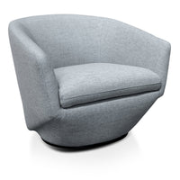Donna Fabric Lounge Chair - Light Grey