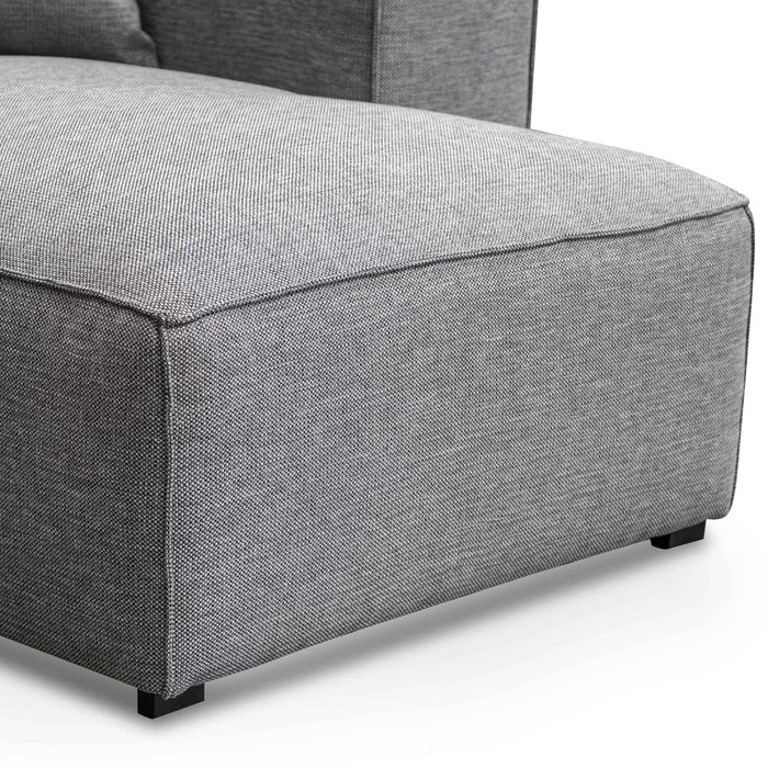 Casey 3 Seater Right Chaise Fabric Sofa - Graphite Grey