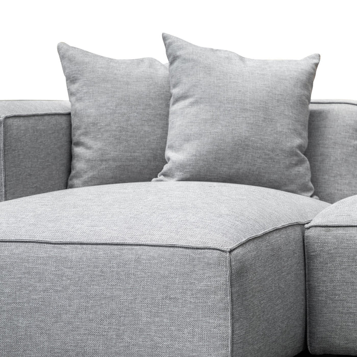 Casey 3 Seater Left Chaise Sofa - Coin Grey