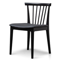 Garret Wooden Dining Chair - Full Black
