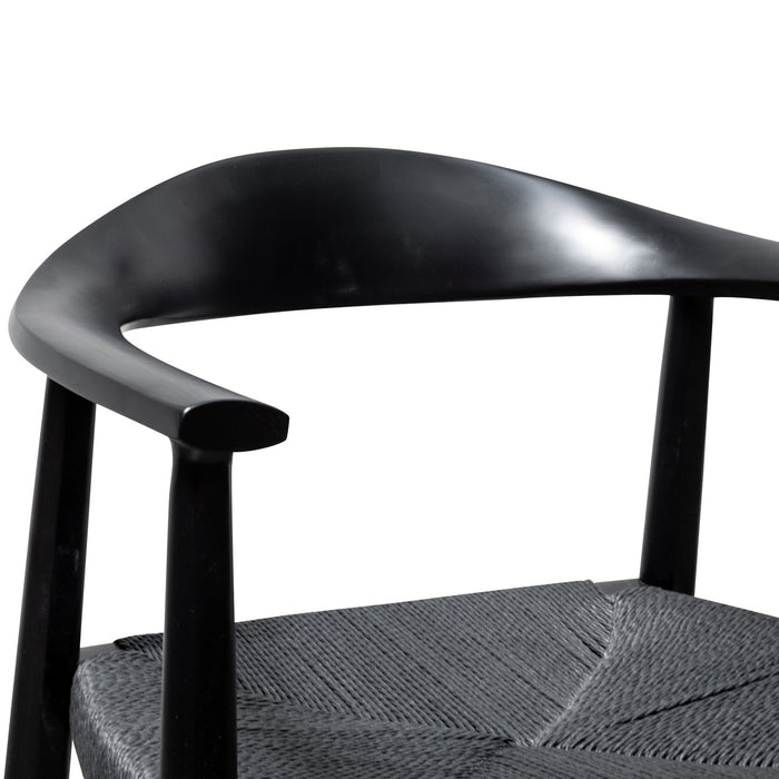Sunday Round Dining Armchair - Full Black