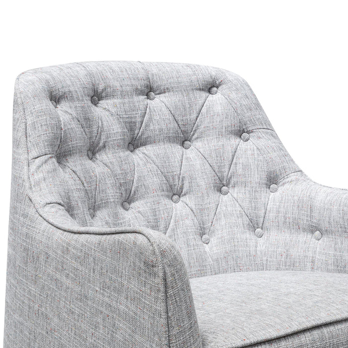 Wilson Fabric Armchair - Light Spec Grey - Black