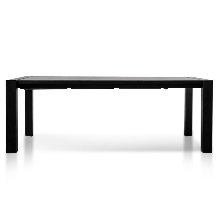 Viola Extendable Wooden Dining Table - Black