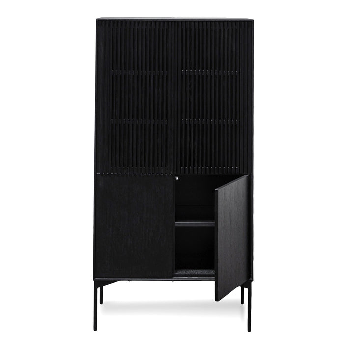 Edmund 4 Doors Cabinet - Black Oak