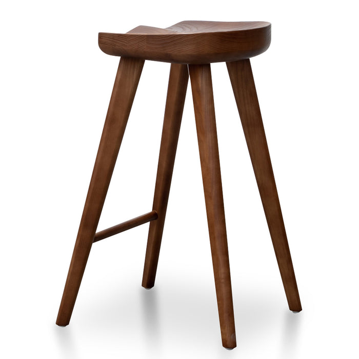 Bethan 65cm Wooden Bar stool - Walnut BS2983-SU