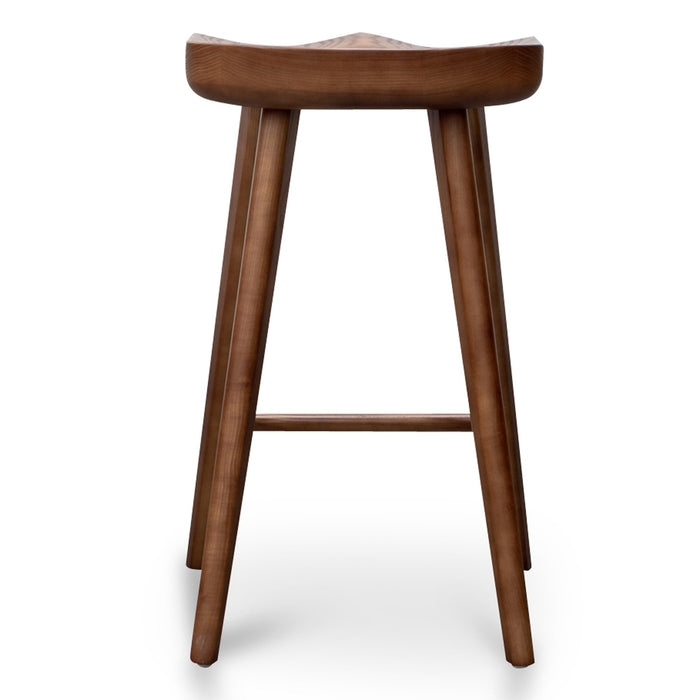 Bethan 65cm Bar stool - Walnut
