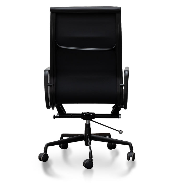 Soft Pad Executive Office Chair - Eames Replica - Full Black