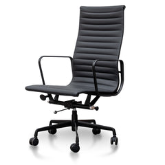 Executive Leather Office Chair - Eames Replica - Full Black