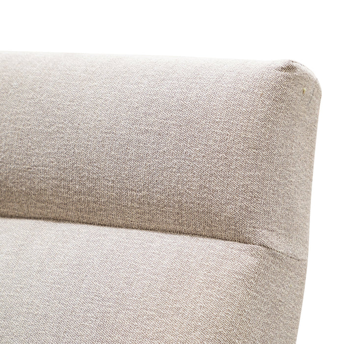 Essie Fabric Armchair in Sand Grey - Black