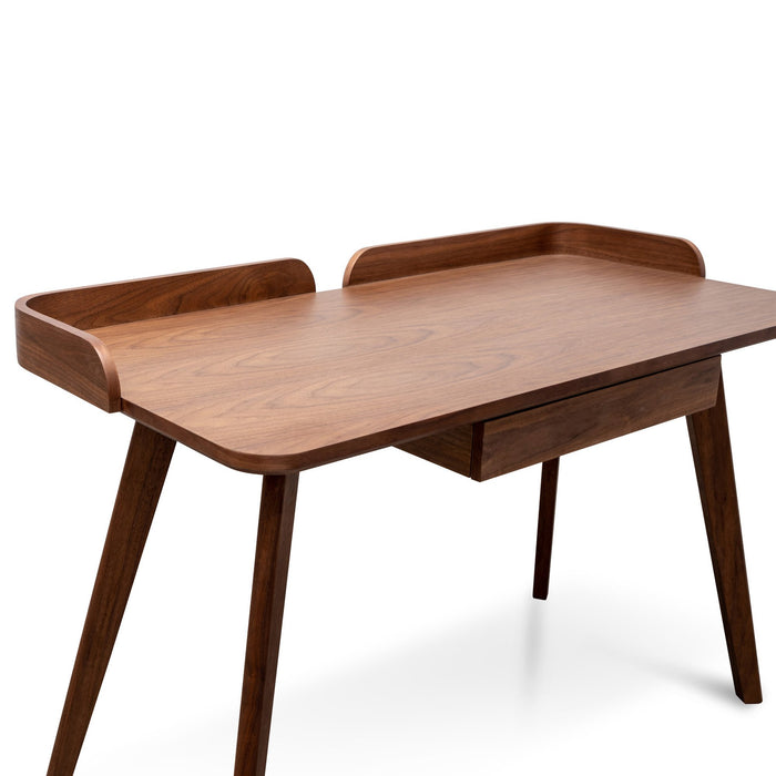 Isotta 123cm Wooden Home Office Desk – Walnut