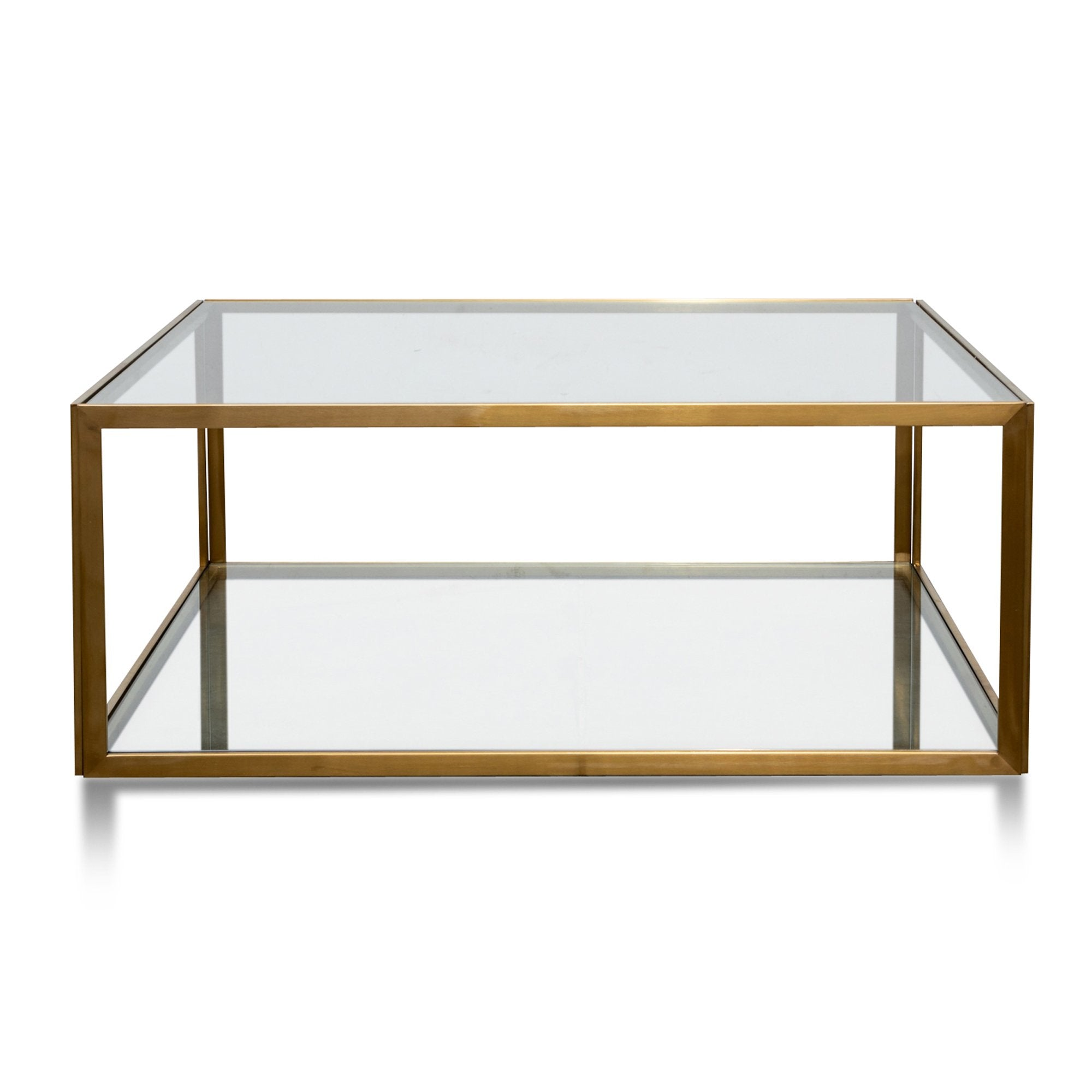 Melody 1m Square Glass Coffee Table Gold Base Interior Secrets [ 2000 x 2000 Pixel ]