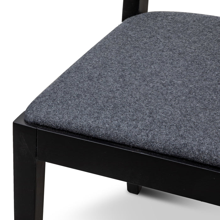 Wilkin Dining Chair - Black with Grey Seat