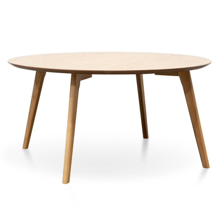 Sanders 90cm Round Wooden Coffee Table - Natural