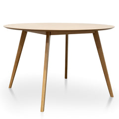 Swanson Round Wooden Dining Table - Natural