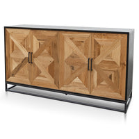 Percy 160cm Wide Sideboard - European Knotty Oak and Peppercorn