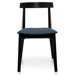 Jira Wood Dining Chair with Seat Cushion - Black