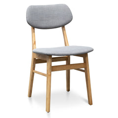Panton Fabric Dining Chair - Grey - Natural
