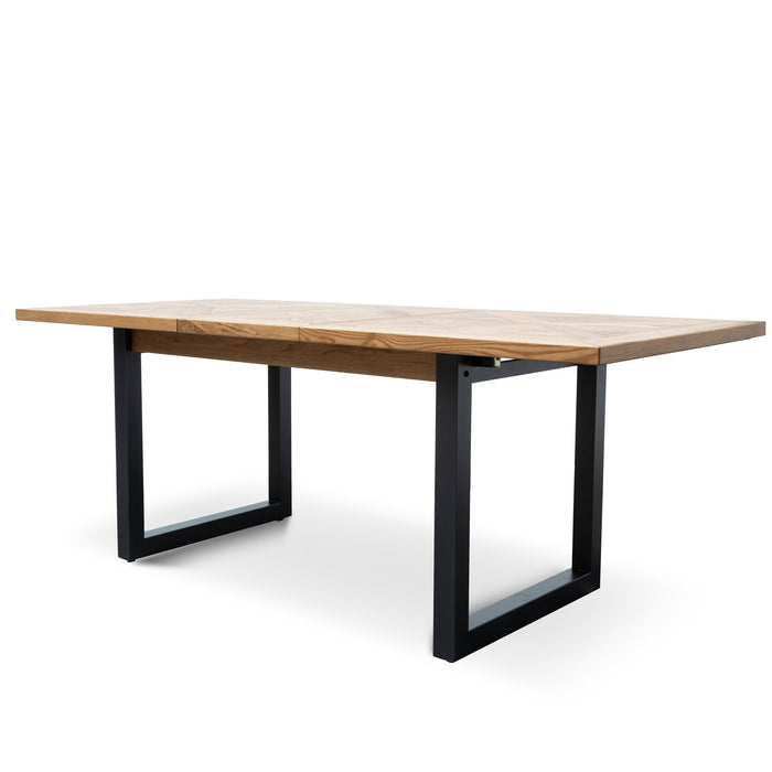 Percy Extendable 190-240cm 6-8 Seating Dining Table - European Knotty Oak and Peppercorn