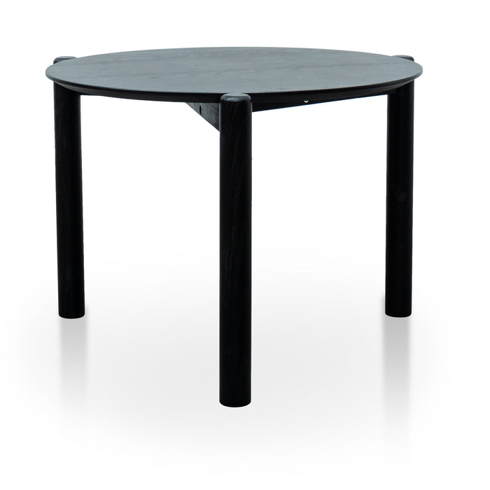 Nest Of Holloway Wooden Round Coffee Table - Black