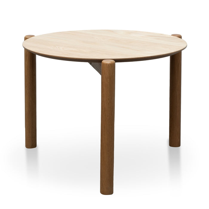 Nest Of Holloway Wooden Round Coffee Table - Natural
