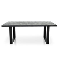 Craig 2m Reclaimed Wood Dining Table - Black