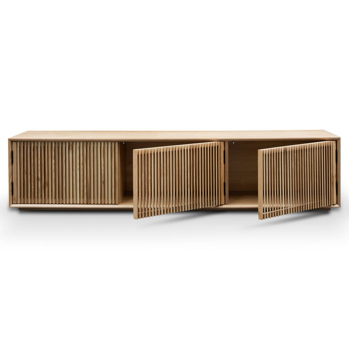Dahlia 2m Entertainment TV Unit - Natural Ash Veneer