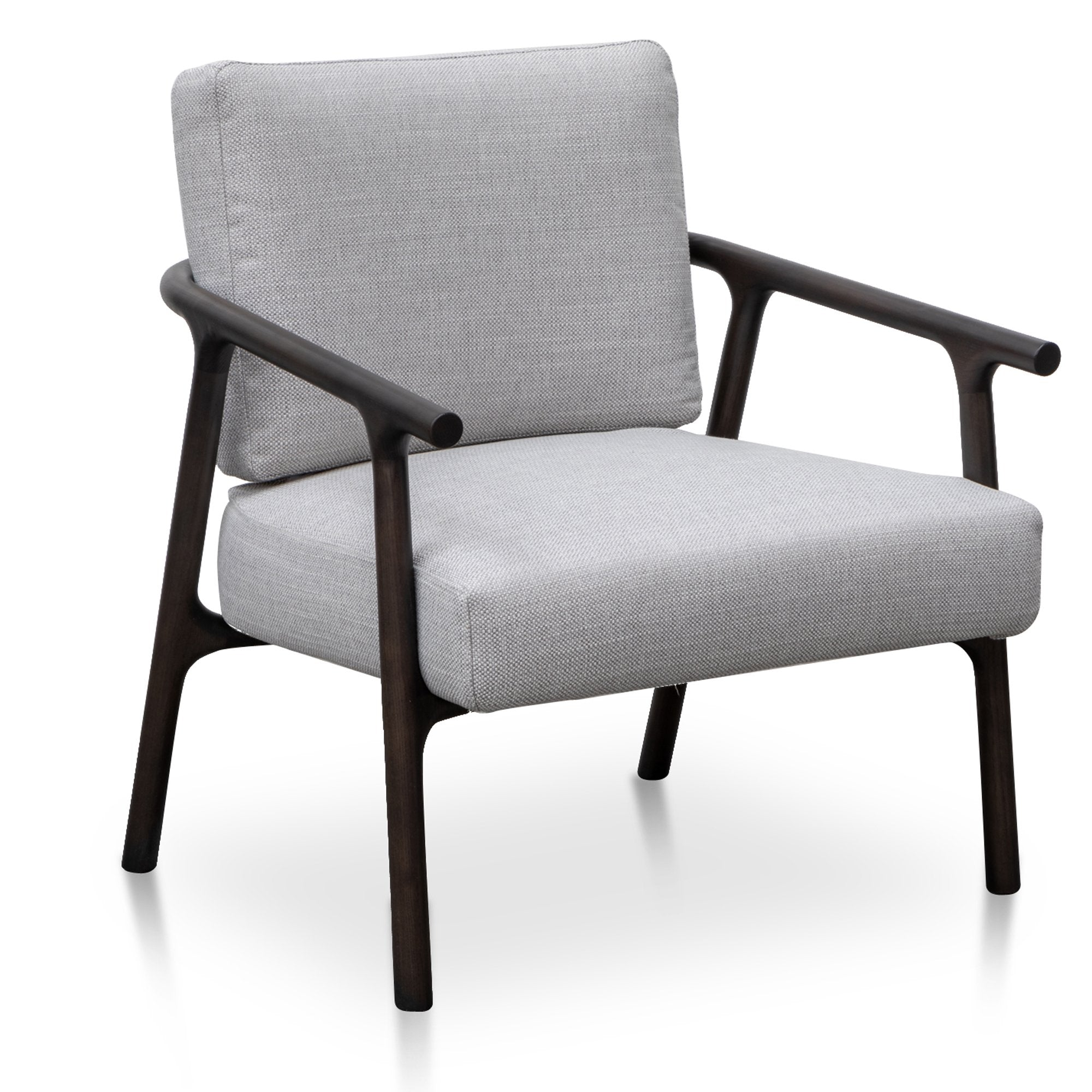 Reeves Fabric Armchair - Light Texture Grey | Interior Secrets