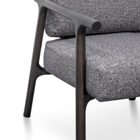Reeves Fabric Armchair - Pebble Grey