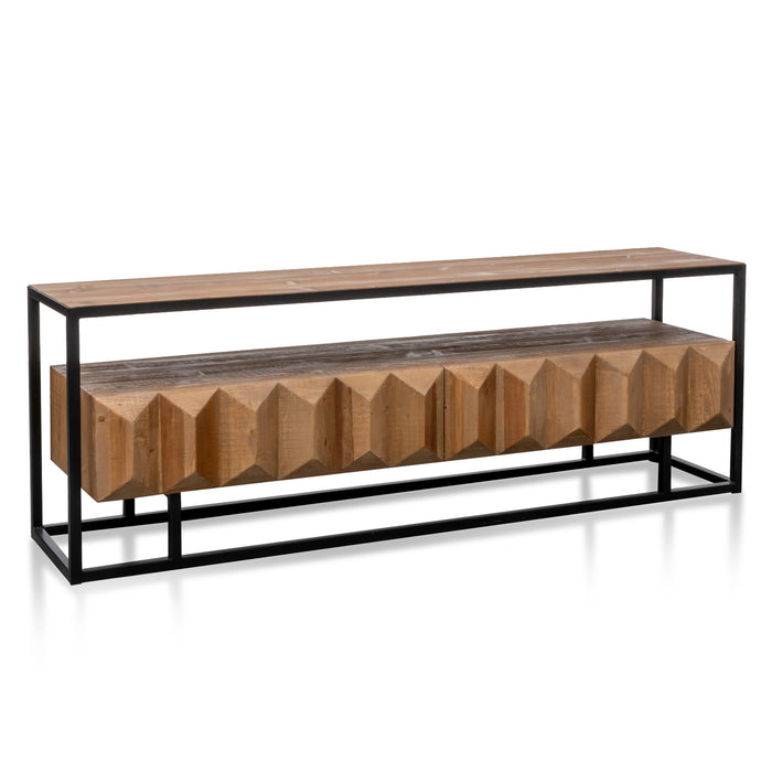 Nadine 1.8m TV Entertainment Unit - Natural with Black Frame