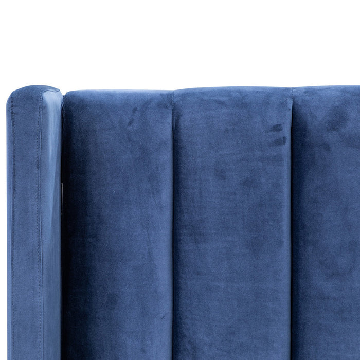 Hillsdale Queen Bed Frame - Navy Velvet