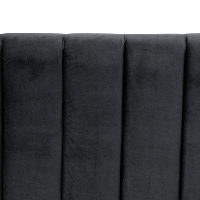 Hillsdale Queen Bed Frame - Black Velvet